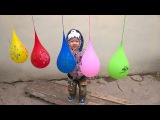 Lot Colors Wet Balloons Compilation