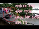 Flood । Flood 2017। Flood in World। Three of a family fall in water as bridge collapses