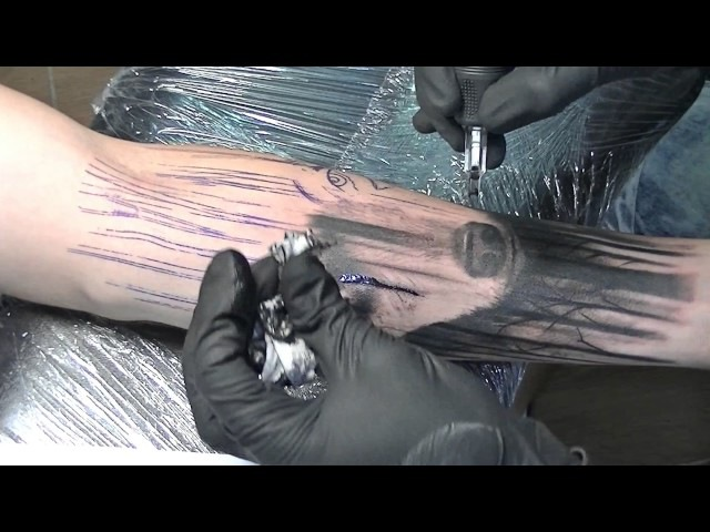 The Big Bad Wolf tattoo time lapse
