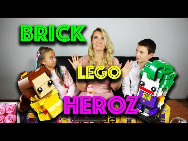 Lego Brick Heroz собираем Джокера и Бель Super Dtar Family