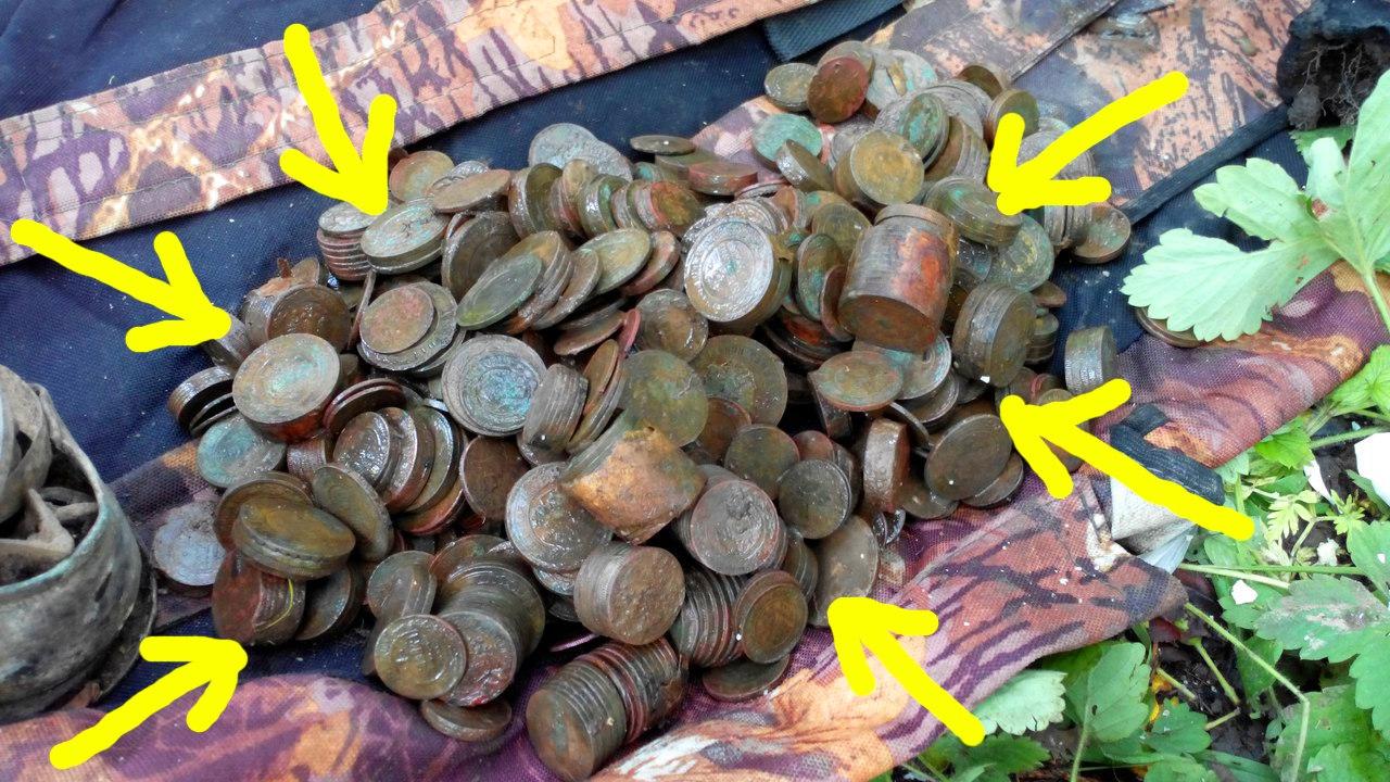 """ЭнциклопедиЯ кладоискателЯ """" клад в 800 монет николая второг."""