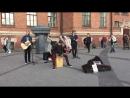 кавер Fall Out Boy - This Aint A Scene (The Railroads, уличные музыканты, Питер)