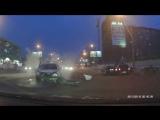 Столкновение трёх автомобилей на Нарымской