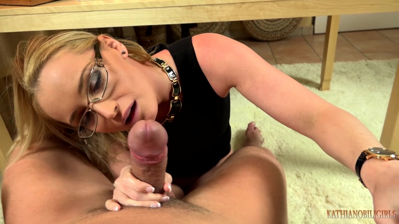Kathia Nobili Blackmailing in the office Fuck that bitch BOSS mouth to keep your