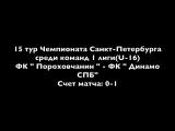 Пороховчанин-Динамо СПБ