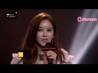170408 T-ara Hyomin Best Korea Female Vocalist of The Year in 5th Vchart Awards, Macau