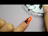 Dita Von Teese inspired half moon nail art - Halloween nails
