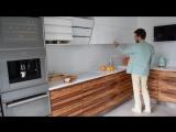 Кухня MONTESANO без ручек с электроприводами фасадов