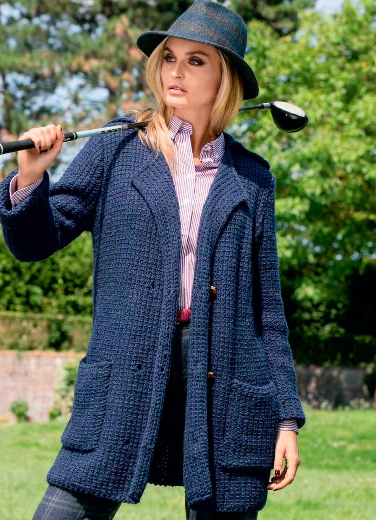 Кардиган свободного кроя - Baggy sweater - Modnoe Vyazanie m 86