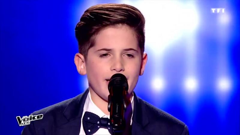 Thibault - Emmène-moi (Boulevard des airs) _ The Voice Kids France 2017 _ Blind Audition