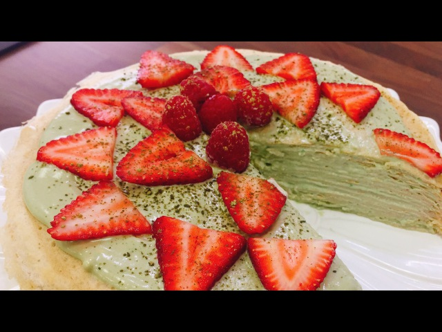 Matcha Green Tea Crepe Cake   CHEAP CLEAN EATS