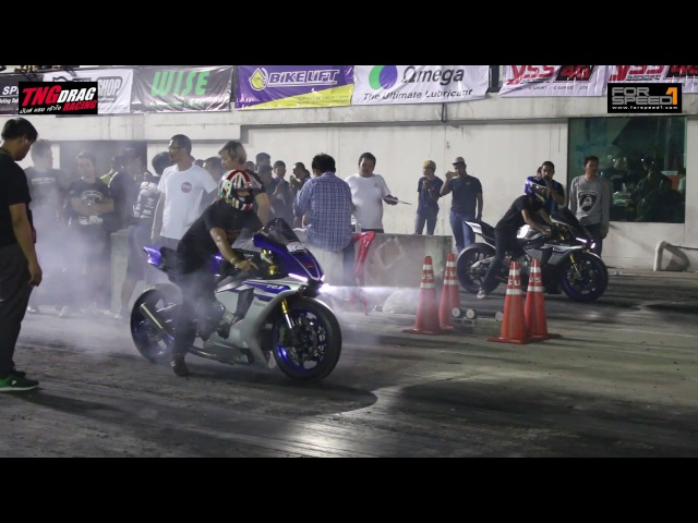 TNG of YAMAHA R1 TNG Drag Racing 2017 Super Bike 22 กรกฏาคม 2560