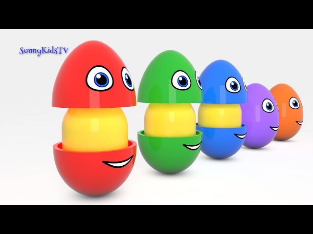 Learn colors Learn shapes with Surprise eggs and Hammer 3D Cartoons for children