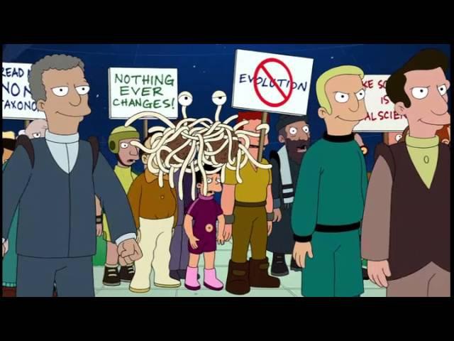 Профессор Хьюберт Фарнсворт - Эволюция vs Креационизм (Футурама/Futurama)