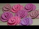 Как связать маленькие РОЗОЧКИ урок вязания крючком crochet flower roses