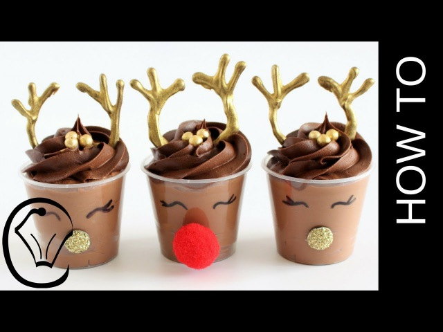 (vk.com/lakomkavk) Rudolph Christmas Chocolate Mousse Dessert Cups by Cupcake Savvy's Kitchen