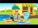 Muletto Lifty apre un negozio La frutta di stagione Cartoni animati