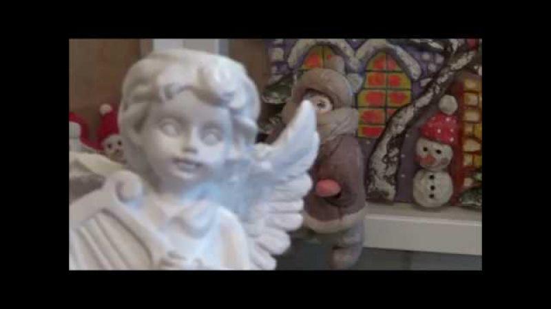 По вашим запросам Зимний домик ватная игрушка Ч 1 делаем лицо