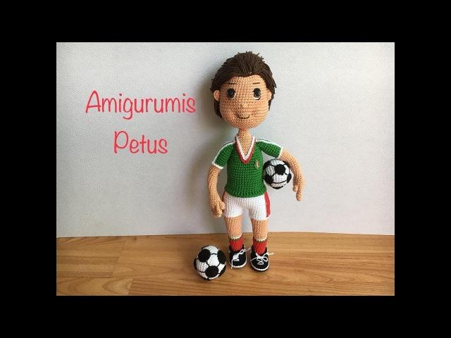 Como colocar pelo, hacer nariz y boca muñeco futbolista amigurumis Petus NOVENA Y ÚLTIMA PARTE