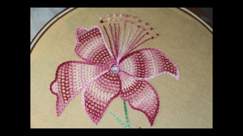 Hand Embroidery Designs Net stitch design