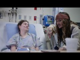 Johnny Depp as Captain Jack Sparrow sails into Vancouver to visit patients at BCCH FULL VIDEO