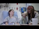 """Johnny Depp as """"Captain Jack Sparrow"""" sails into Vancouver to visit patients at BCCH [FULL VIDEO"""
