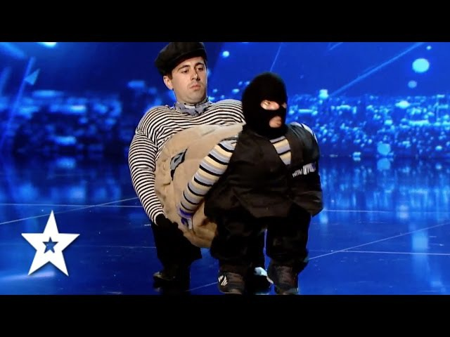 Ion Dascal's Incredible Cops v Robber Audition   Auditions Week 1   Românii au talent