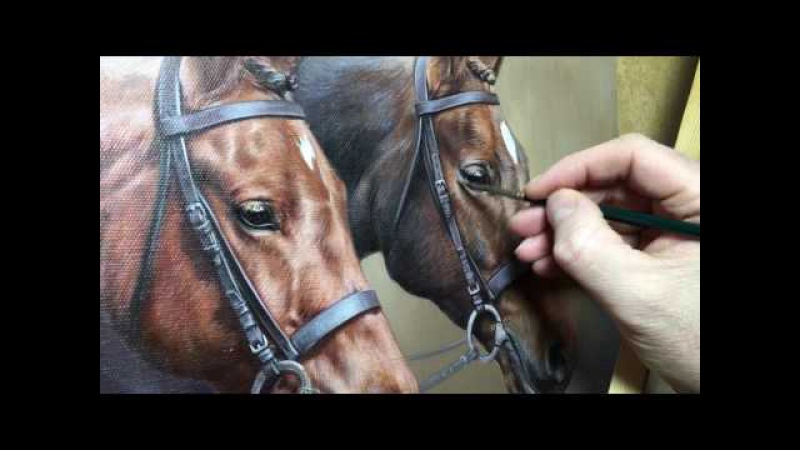 Pet Portraits - Painting in progress by Nicholas Beall