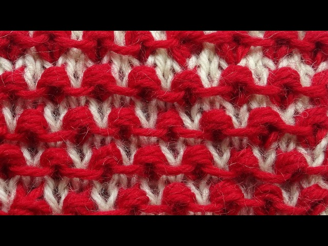Забавные шишечки - узор вязания спицами Knitting pattern 17
