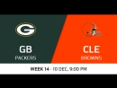 NFL 2017 / W14 / Green Bay Packers - Cleveland Browns / CG / EN