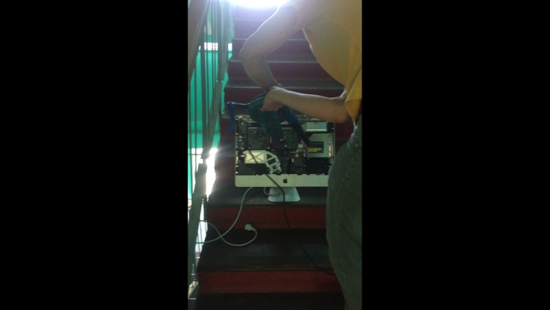 ADM cleaning iMac