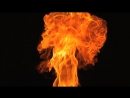 Slow Motion Fire Blaze From the Bottom Stock Video Footage