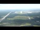 Посадка самолета Вид из кабины пилота - в HD качестве 720
