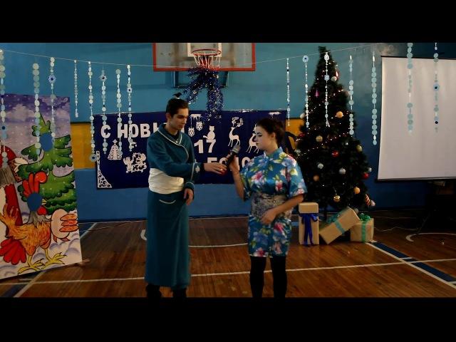 2 школа НГ 28.12.2016 фрагмент новогоднего праздника
