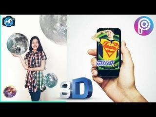 Moon - 3D - Қазақша Фотошоп Picsart. Урок фотошоп Picsart. Picsart tutorial editor, edit