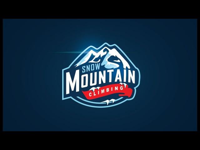 Badge Logo Design Adobe Illustrator Tutorial Mountain