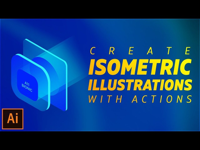Create Isometric Illustrations using Actions in Illustrator CC 2017