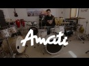 Amati Classic Vintage drum set and Amati cymbal 15 Hi hats and 17 Crash/Ride