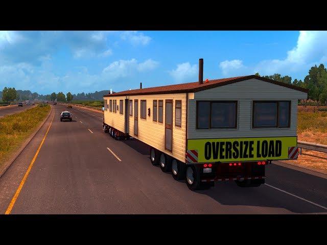 OVER SIZE LOAD - ATS - Рейс 44 Scania T Series (RJL) 8x4 American Truck Simulator HD-1080p