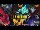 11 700 000 MASTERY POINTS COMBINED Spectate Highest Mastery NA JHIN SORAKA TALON ELISE JINX