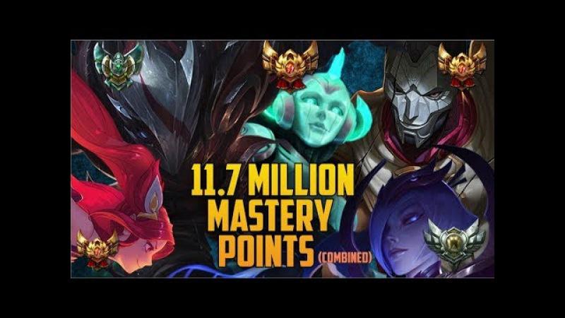 11,700,000 MASTERY POINTS COMBINED- Spectate Highest Mastery NA JHIN, SORAKA, TALON, ELISE JINX