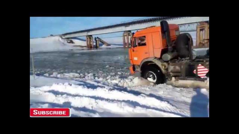 Невероятный грузовик Kamaz 6х6. Сумасшедшие Русские водители 2