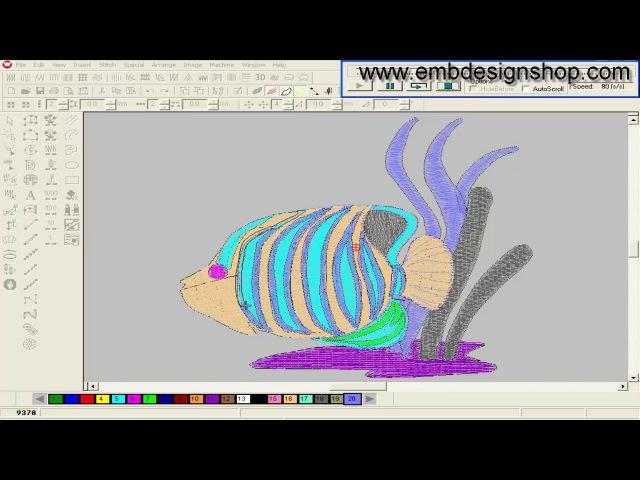 How to Make Wilcom Design || Computer Embroidery Design Tutorel || China, swf, tajima , (PAT-66)