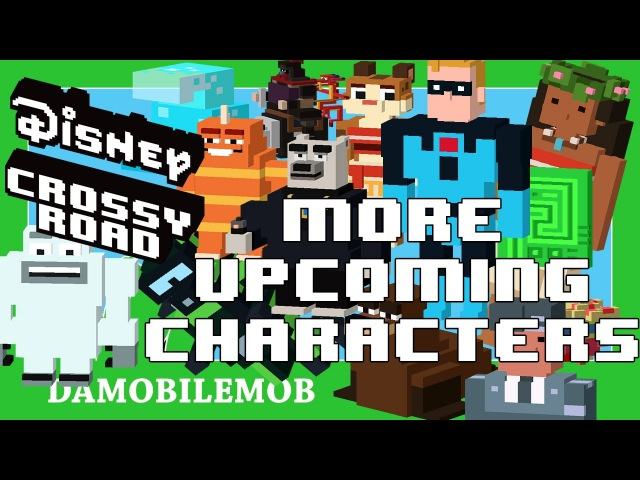 ★ DISNEY CROSSY ROAD Secret Characters | UPCOMING CHARACTERS (Moana, Finding Dory, Zootopia more)
