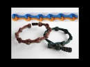How to Make a True Lovers Knot Diamond Knot and Loop Paracord Bracelet-Mini Cobra Closure Pull