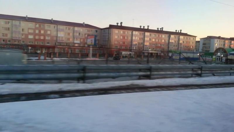 2015.04.02 Поезд 337Е . Екатеринбург - Приобье . Отправление ст.Геологическая