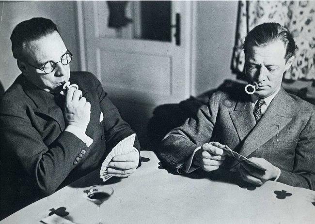 Карточные игроки, отказавшиеся от курения, 1931