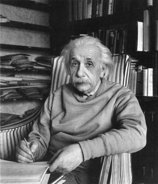 Альберт Эйнштейн дома, 1949