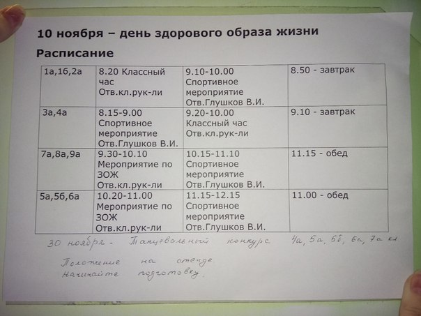 10 ноября)  Поздравляем с концом 1 четверти))