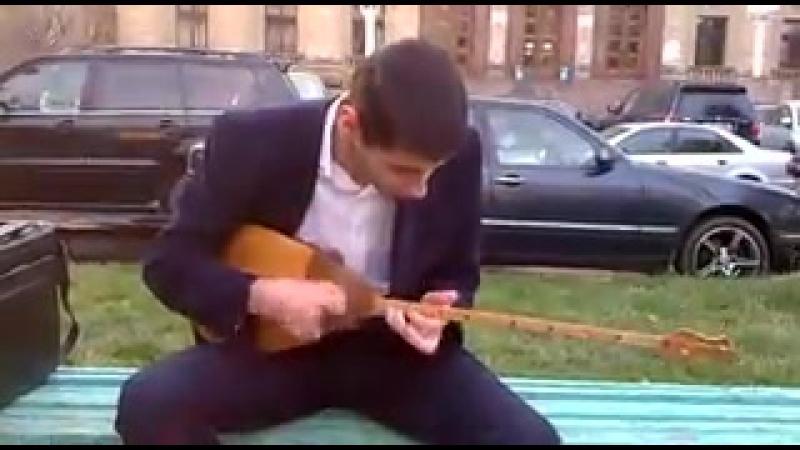 Кавказец играет Куй-Адай (360p) (240p)